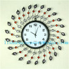 Lishuo European rural decorated living room big clock contracted creative mute clock quartz clock bedroom modern charact