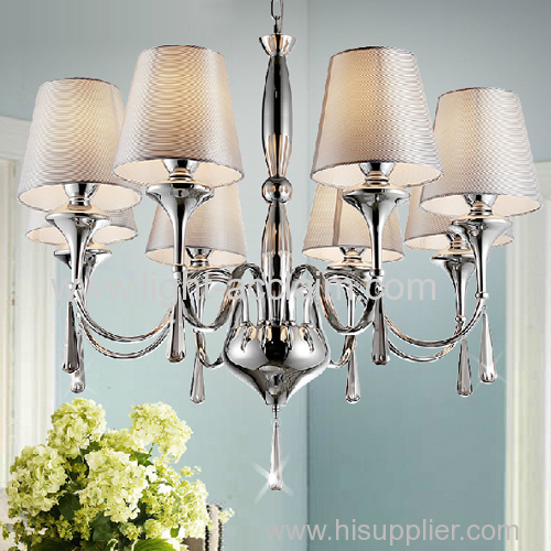 Fabric Crystal Pendant Lamp fabric Pendant Cloth Shade lamp fabric shade modern crystal wall lamp