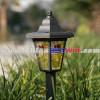 Glass lanterns plastic stake solar light