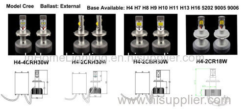 H7 LED Headlight Brighter Car Headlight Bulbs 4500 LM