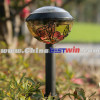 Plastic Solar Garden Light With Flower Stained Glass