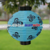 Outdoor Garden Solar Light Cotton Blue Ball With Butterfly