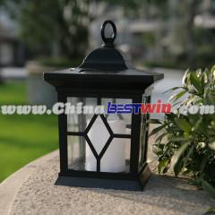 Outdoor Garden Solar Lantern White Candle