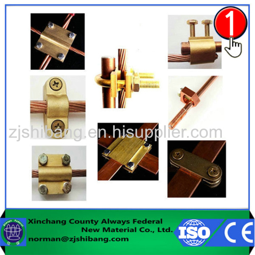 Brass components lightning protection electrical connectors
