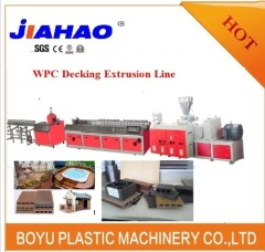 Wood plastic composite line