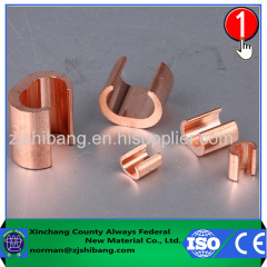 Copper c-clamp of ground wire