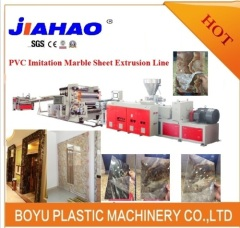 PVC artificial marble decoration sheet making machine