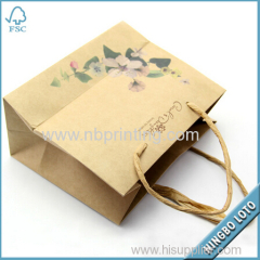 Plain Cheap Brown Paper Bags with Handles
