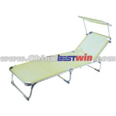 Folding lounger chair With sun visor