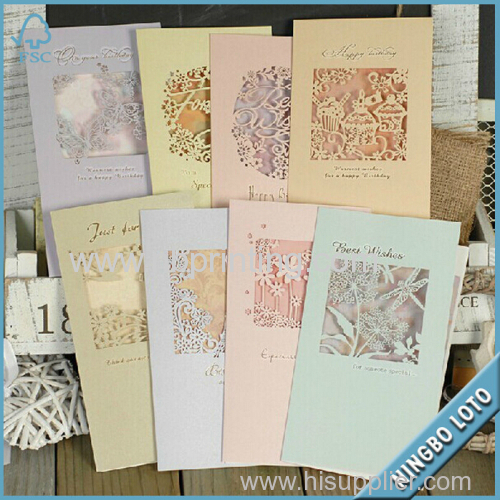 Direct Factory Supply Custom Greeting Card Greeting Card Printing Handmade Birthday Card