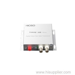 2 Channel digital video optic transceiver small casing