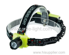 POPPAS T40 Plastic 150Lumens 3 Brightness Level XRE Q5 Telescopic Zoomable High Power LED Headlamp