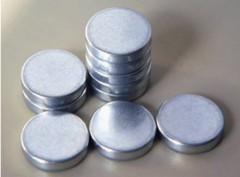 8mm dia x1mm diametrically magnetised neodymium disc