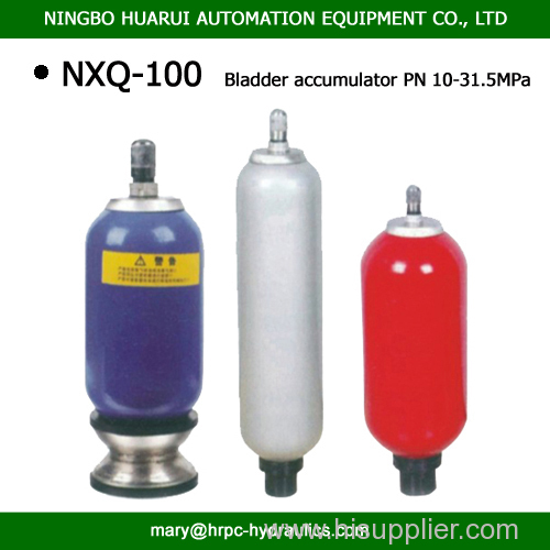 100L 10MPa 20Mpa 315Bar hydraulic bladder accumulator