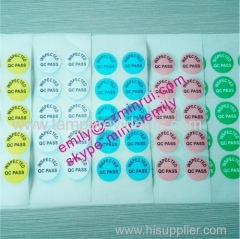 white green pink yellow blur paper qc passed inspected QC stickers printing