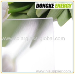 AR coated solar panel cover glass with high quality