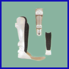 Moderate adjustment leg brace in general use