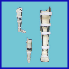 Adjustable knee joint fixator in general use