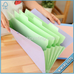 Factory Direct Price Custom Hard Cover Paper Cardboard File Folder