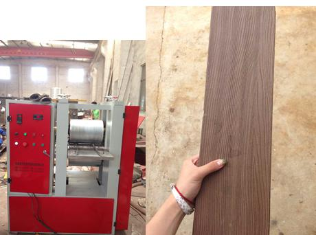 WPC Wood Plastic Embossing Machine