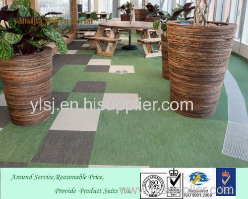 2017 Brilliant High Grade PVC woven Vinyl carpet Customized &anti-wear fashional woven vinyl flooring