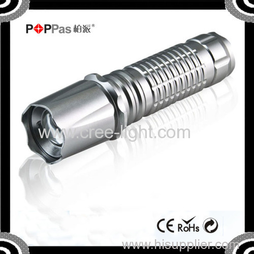 POPPAS 817 High Quality 3w Rechargeable 150 lumens XPE Zoomale Lamp Torch