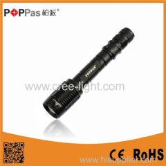 POPPAS 2 x 18650 Rechargeable Zoom 10W Telescopic High Power Aluminum Led Torch