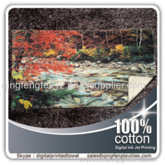 2015 hot sales digital printed beach towel