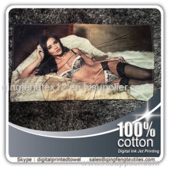 2015 hot sales digital print towel