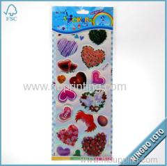 2015 New Custom Heart Shaped Sticker for Valentines