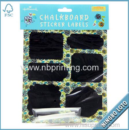 Factory Price Art Paper Blackboard Sticker for Hallmark