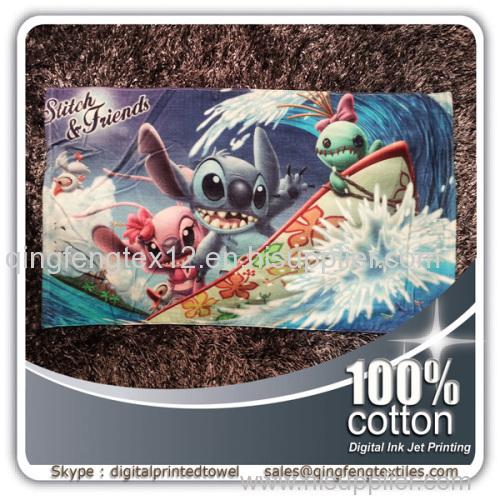 2015 hot sales wholesale printed beach towel