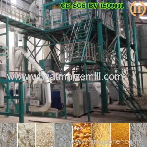 Maize mills for milling maize to flour grits with roller mills for Africa maize flour millings
