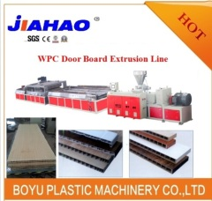 Wood plastic composite door board machine