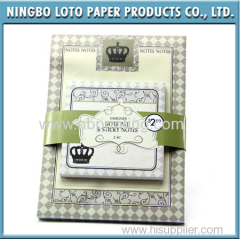 Notepad with Sticky Memo Pad Set