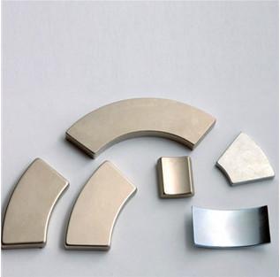 Arc shape neodymium Ndfeb magnets For brushless DC motor