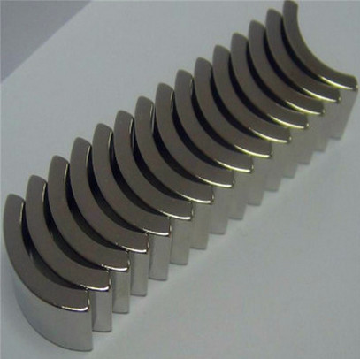 arc segment strong power customized neodymium N38H motor magnet