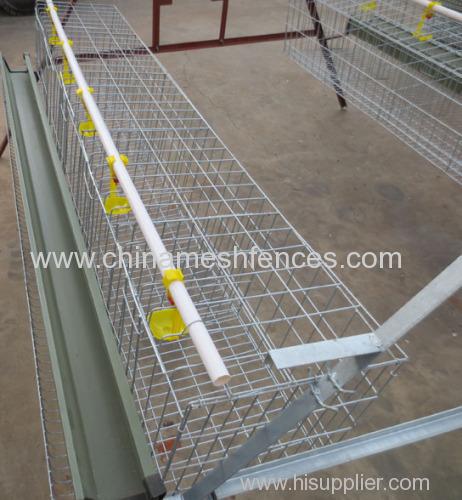 Galvanized 4 Tiers Chicken cage system