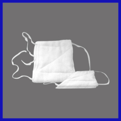 Disposable medical Gauze mask with tie