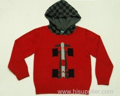 Boys' Autumnal Jacquard Pinkish Red Hoodies