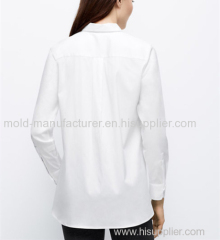 High qulity Cotton nylon simple pokets soild color shirt OEM service by China dress manufacturers
