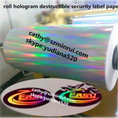 hologram destructible vinyl film