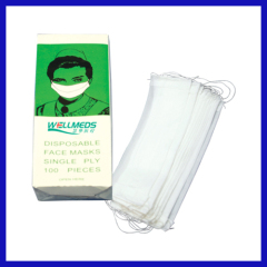 disposable Single ply paper mask earloop