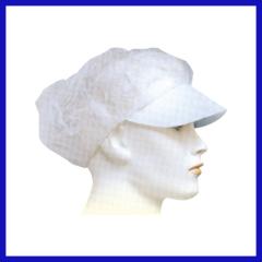 Disposalbe non-woven nurse cap flat peak style
