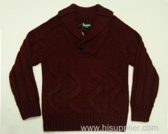 Boys' Autumn Casual Pinkish Red Sweaters