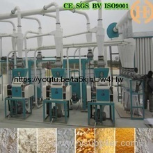 Automatic 5T-500T/24H maize mill machine of uganda