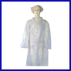 Medical Plastic disposable isolation gown for visitation
