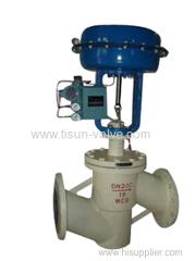 single seat pneumatic fluorine lining valve