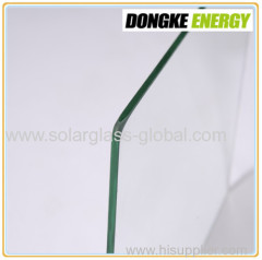 ultra clear self cleaning tempered solar glass 3.2mm