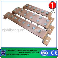 titulaire de barres vertical / jeu de barres isolant / support de barres / pince
